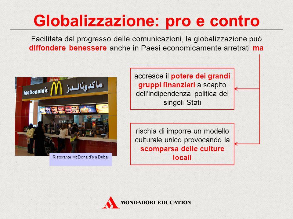 Globalizzazione: pro e contro