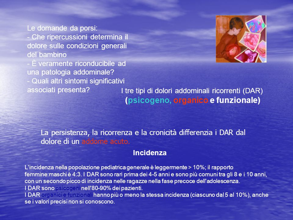 - Che ripercussioni determina il dolore sulle condizioni generali