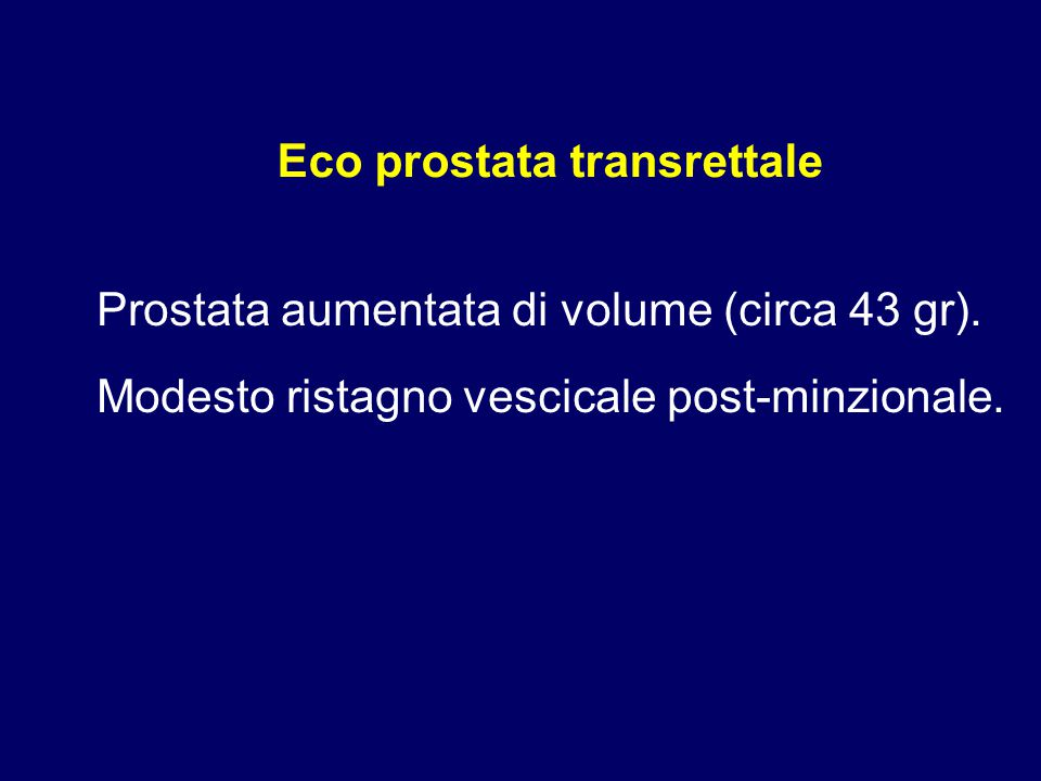 Eco prostata transrettale