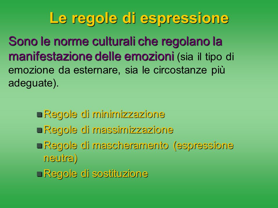 Le regole di espressione