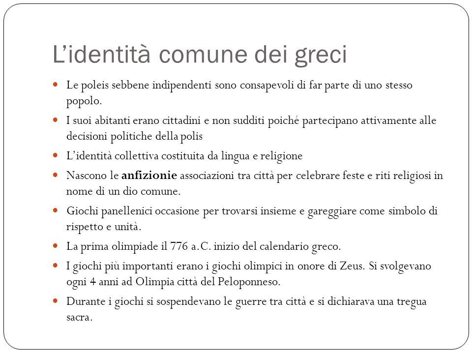 L'identità comune dei greci