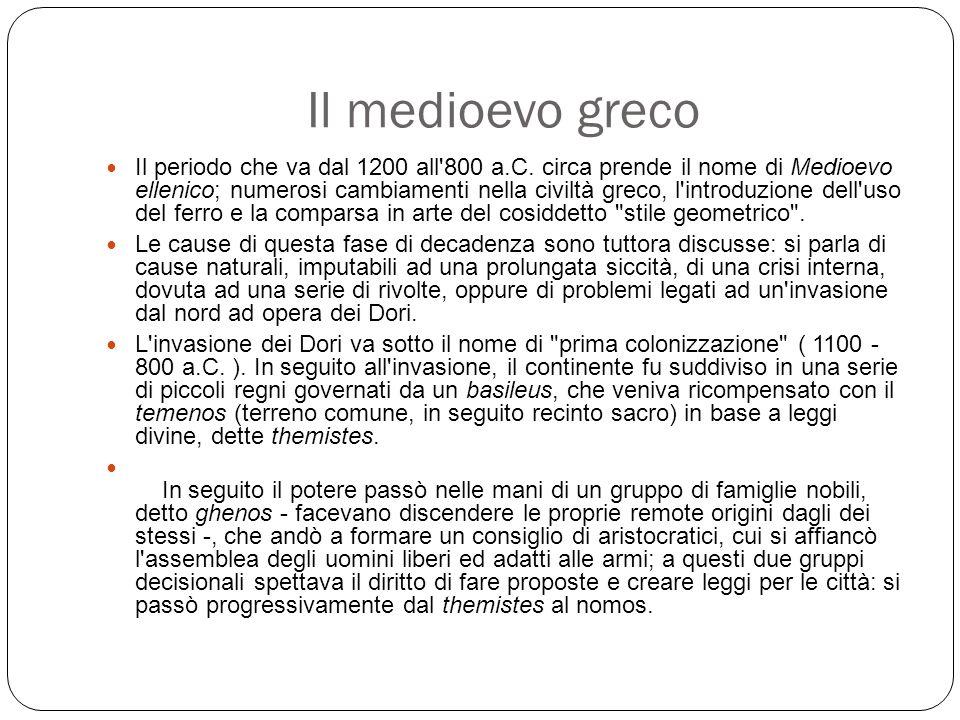 Il medioevo greco