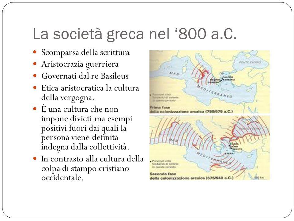 La società greca nel '800 a.C.