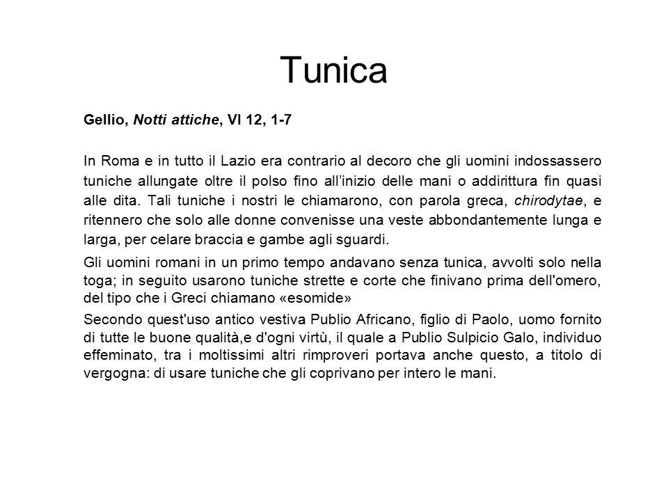 Tunica Gellio, Notti attiche, VI 12, 1-7
