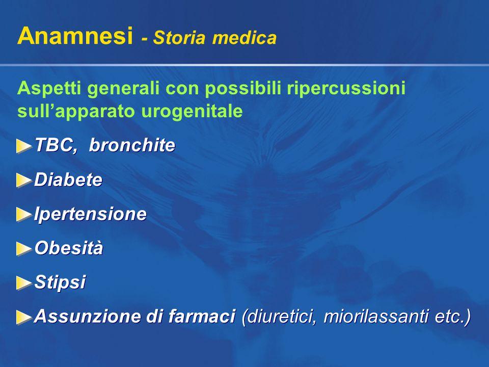 Anamnesi - Storia medica