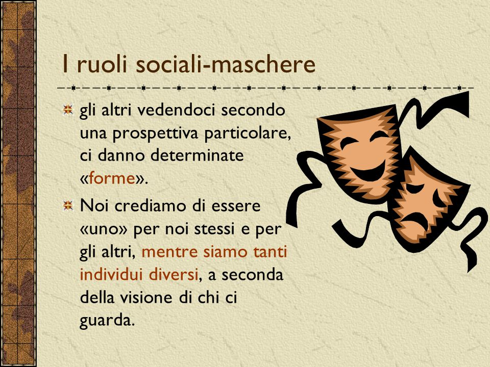 I ruoli sociali-maschere