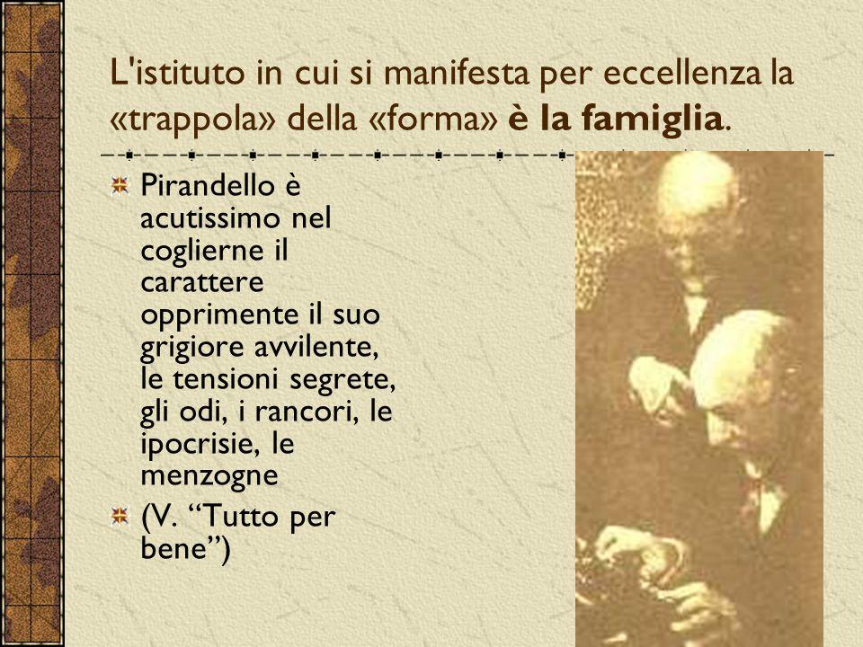 L istituto in cui si manifesta per eccellenza la «trappola» della «forma» è la famiglia.