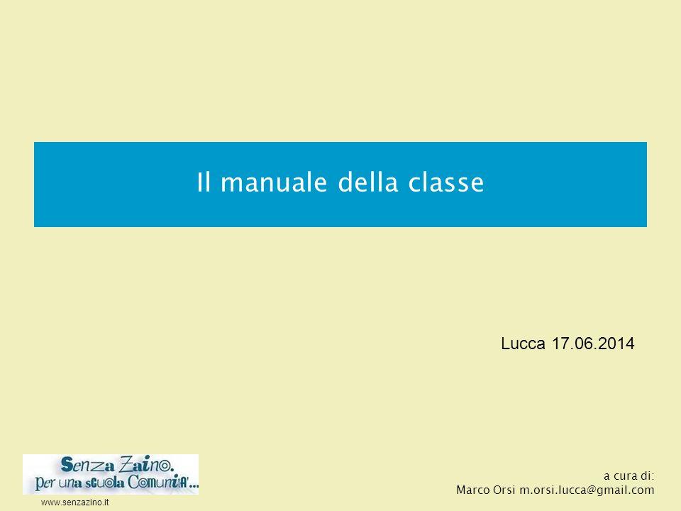 Il manuale della classe