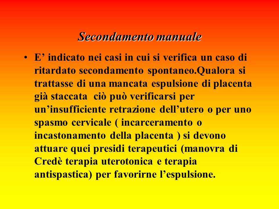 Secondamento manuale