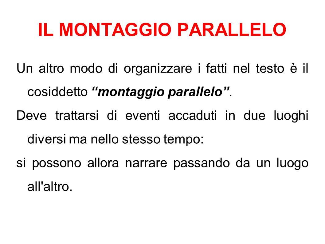 IL MONTAGGIO PARALLELO