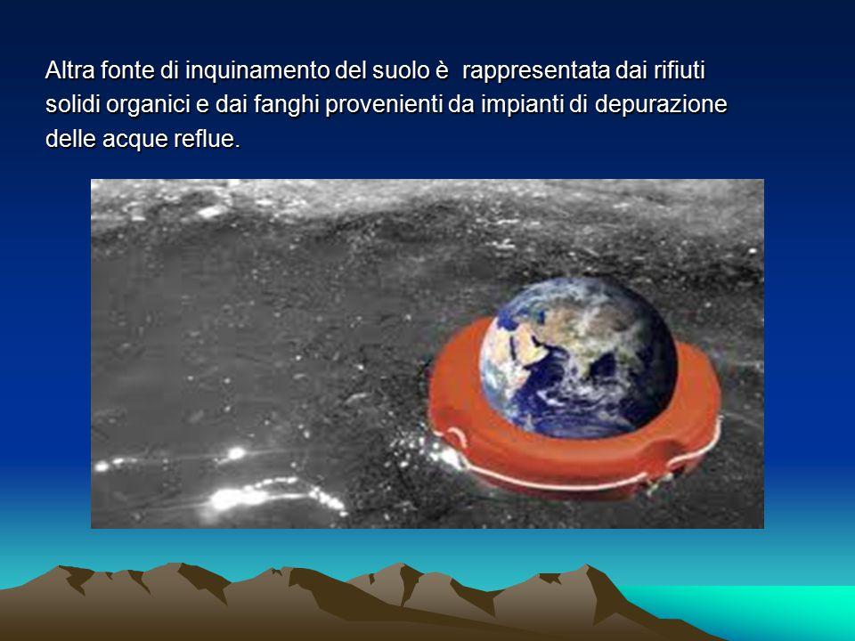 Altra fonte di inquinamento del suolo è rappresentata dai rifiuti
