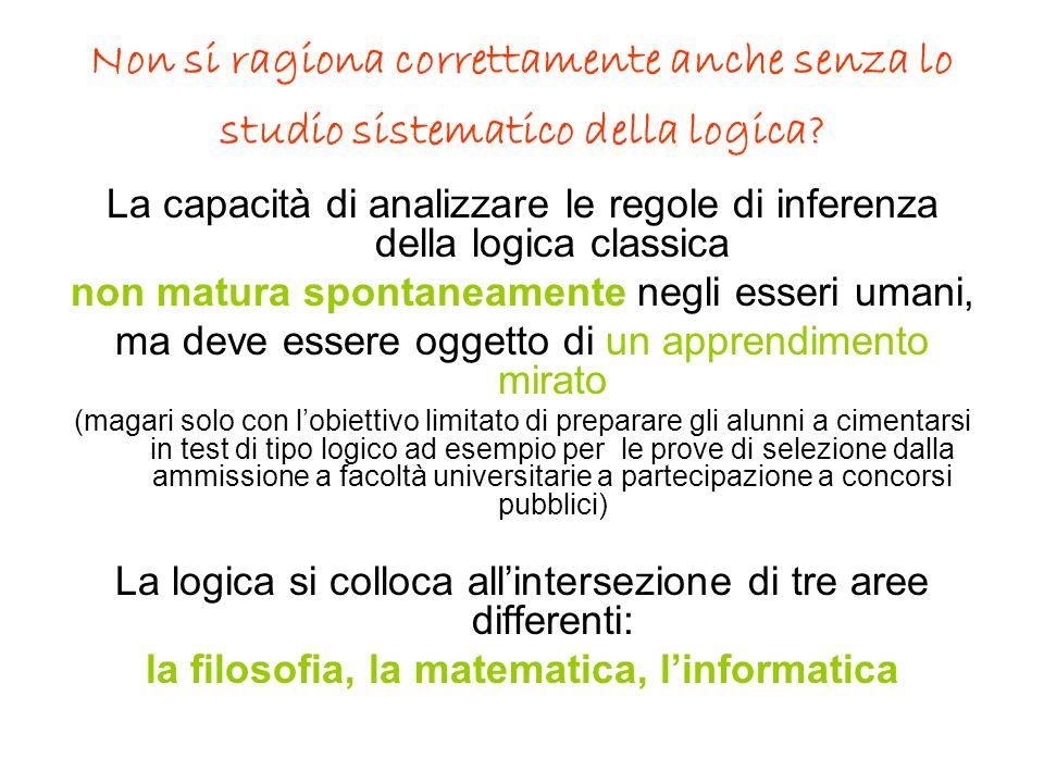 la filosofia, la matematica, l'informatica