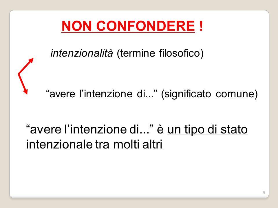 NON CONFONDERE ! intenzionalità (termine filosofico) avere l'intenzione di... (significato comune)