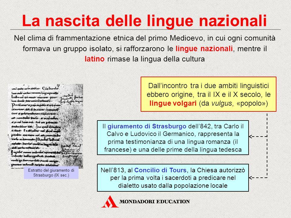 La nascita delle lingue nazionali
