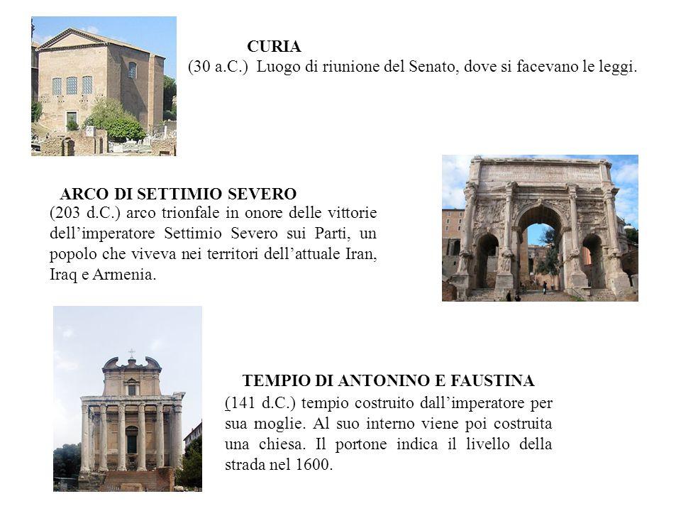 ARCO DI SETTIMIO SEVERO TEMPIO DI ANTONINO E FAUSTINA
