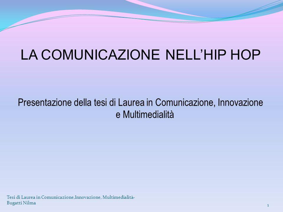 LA COMUNICAZIONE NELL'HIP HOP