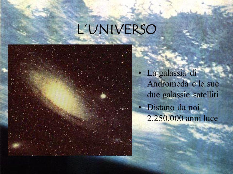 L'UNIVERSO La galassia di Andromeda e le sue due galassie satelliti