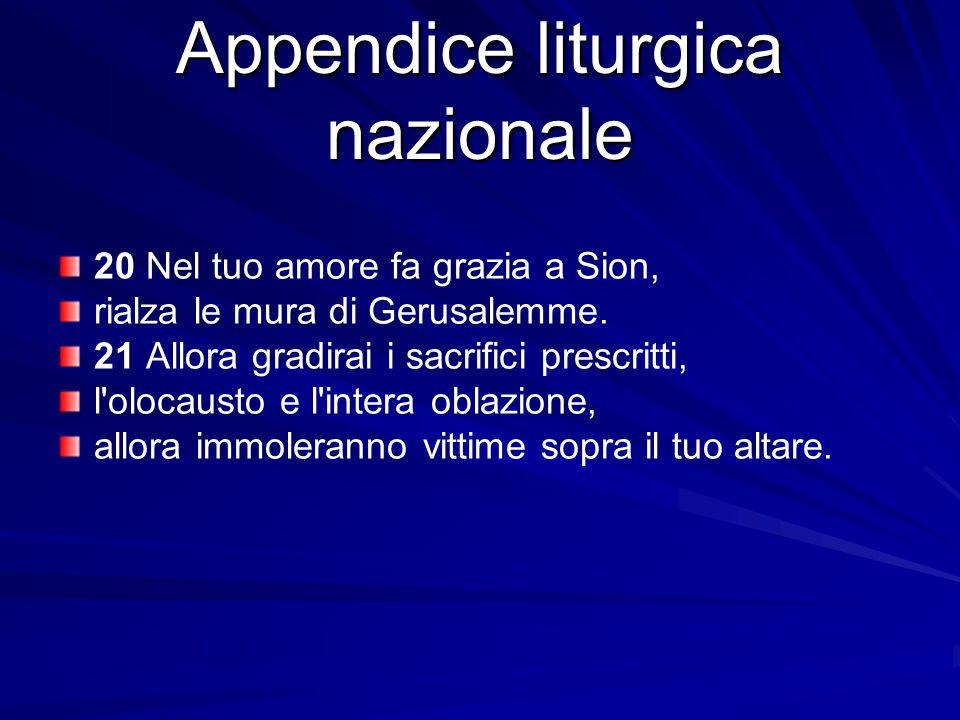 Appendice liturgica nazionale