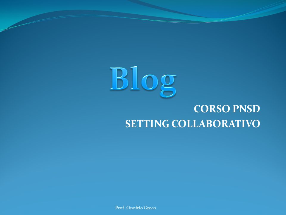 CORSO PNSD SETTING COLLABORATIVO
