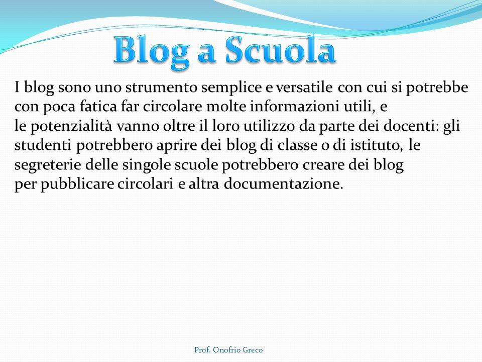 Blog a Scuola