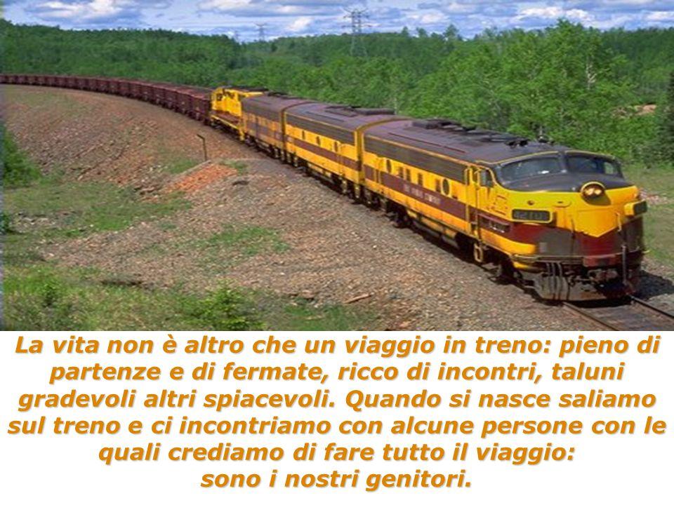La vita non è altro che un viaggio in treno: pieno di partenze e di fermate, ricco di incontri, taluni gradevoli altri spiacevoli.