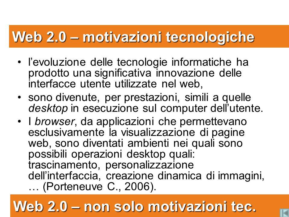 Web 2.0 – motivazioni tecnologiche