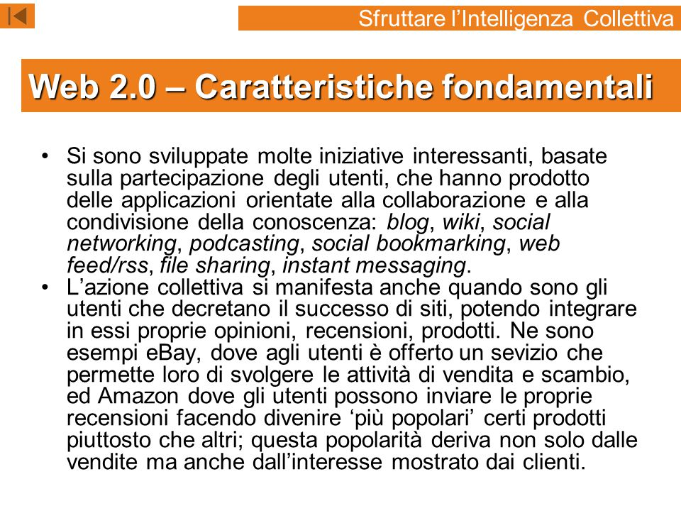 Web 2.0 – Caratteristiche fondamentali