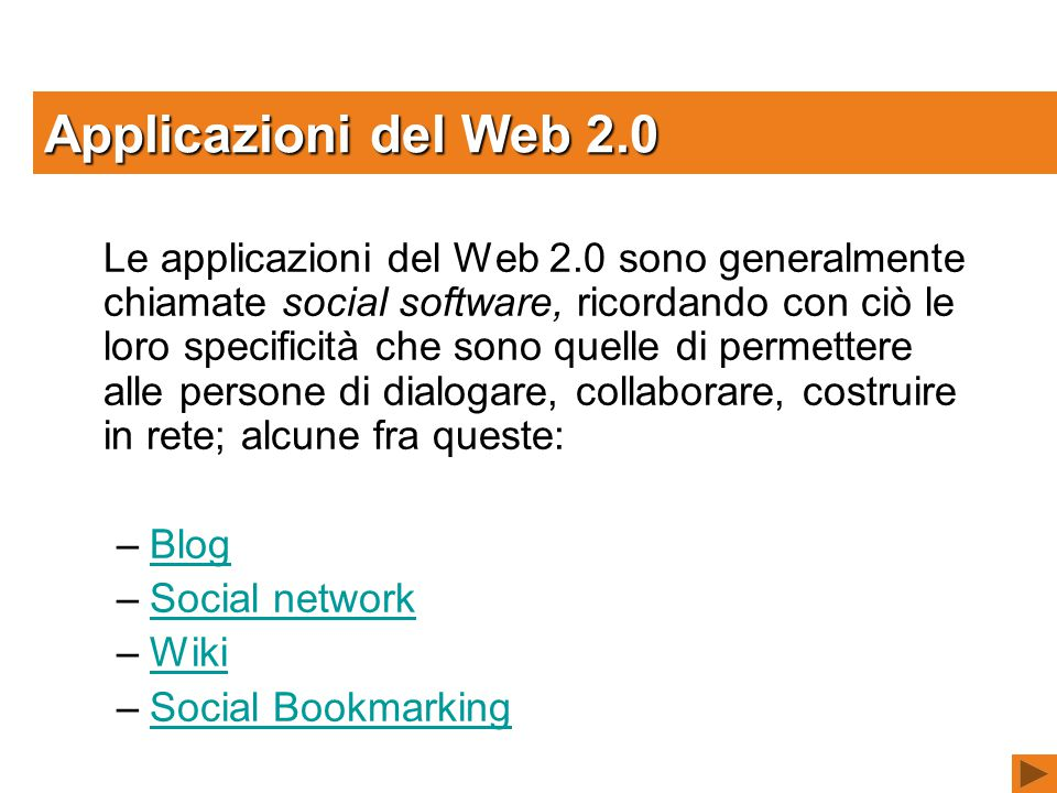 Applicazioni del Web 2.0