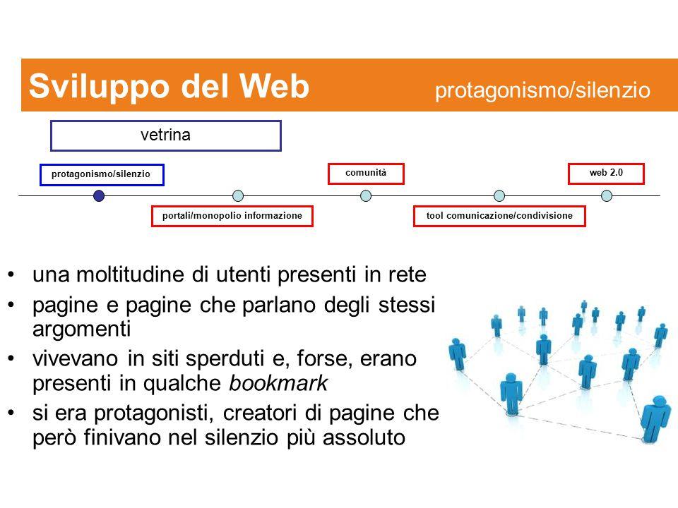 Sviluppo del Web protagonismo/silenzio