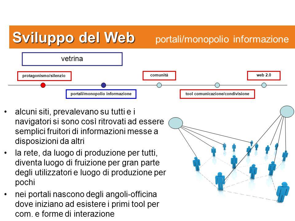 Sviluppo del Web portali/monopolio informazione