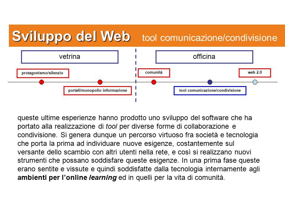 Sviluppo del Web tool comunicazione/condivisione