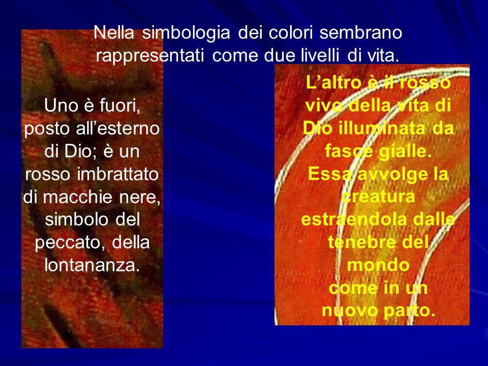 L'altro è il rosso vivo della vita di Dio illuminata da fasce gialle.