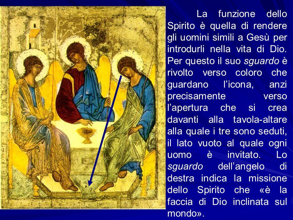 La funzione dello Spirito è quella di rendere gli uomini simili a Gesù per introdurli nella vita di Dio.