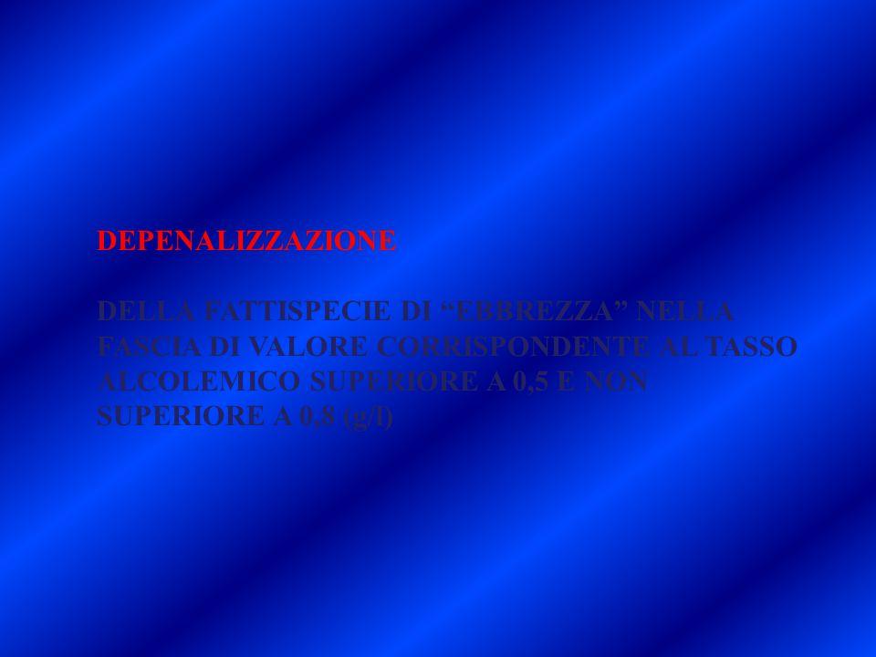 29/03/11 DEPENALIZZAZIONE.