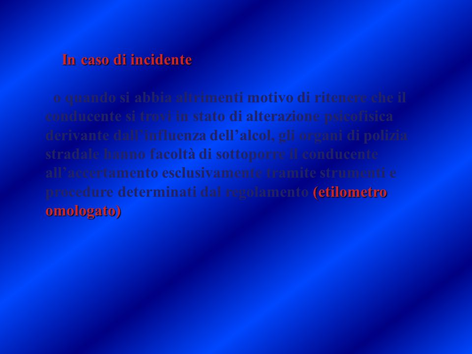 29/03/11 In caso di incidente.