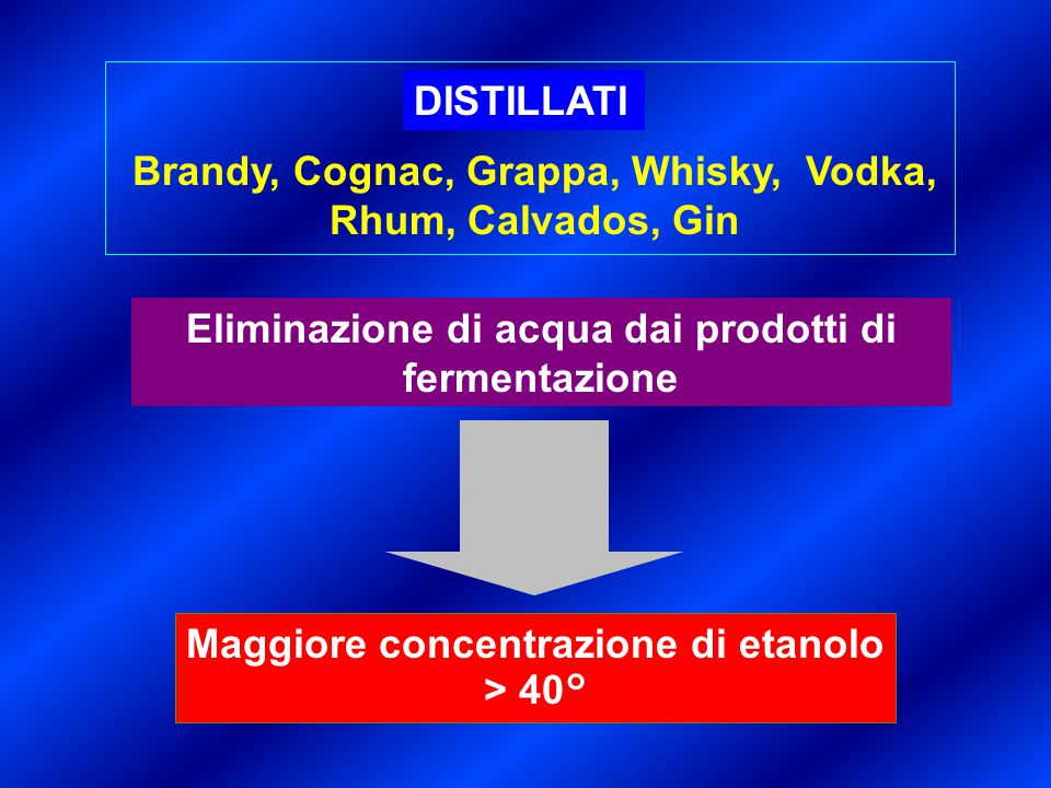 Brandy, Cognac, Grappa, Whisky, Vodka, Rhum, Calvados, Gin