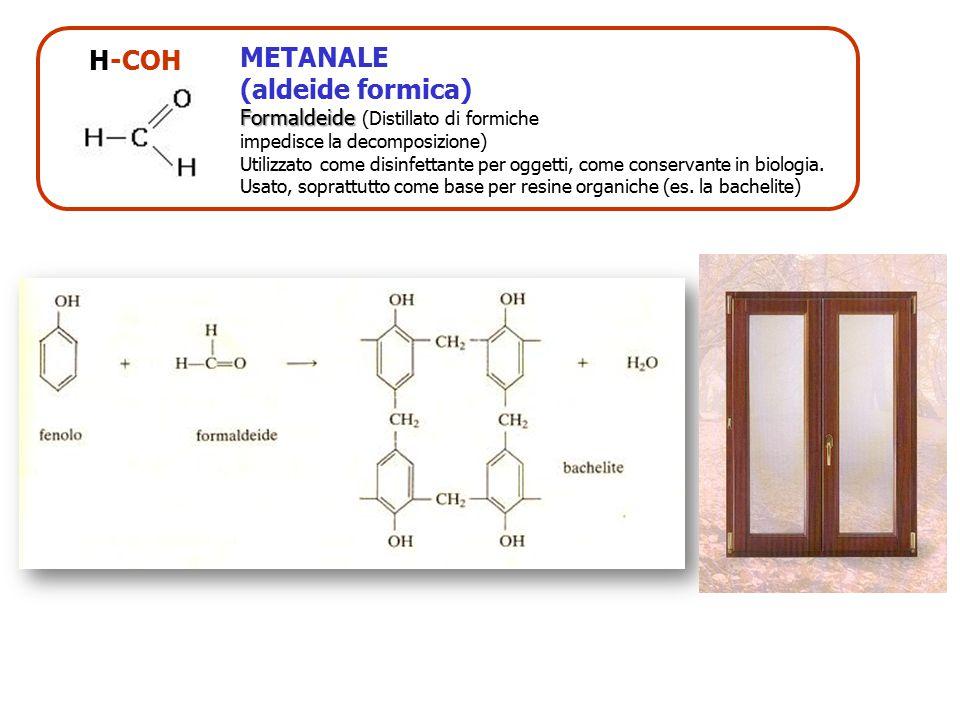 H-COH METANALE (aldeide formica) Formaldeide (Distillato di formiche