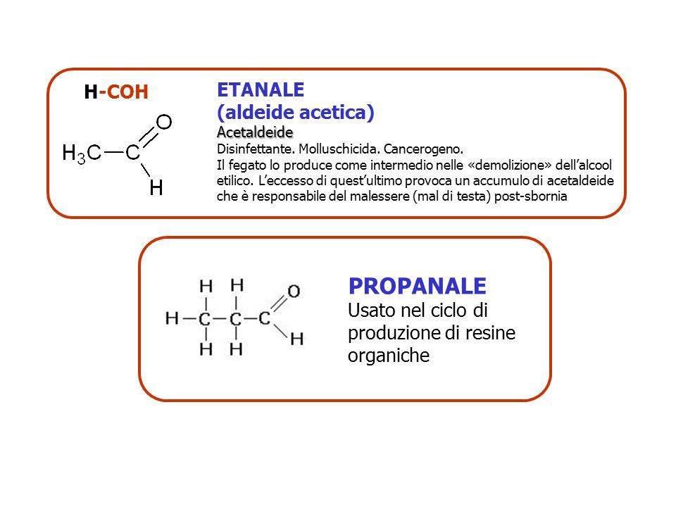 PROPANALE H-COH ETANALE (aldeide acetica)