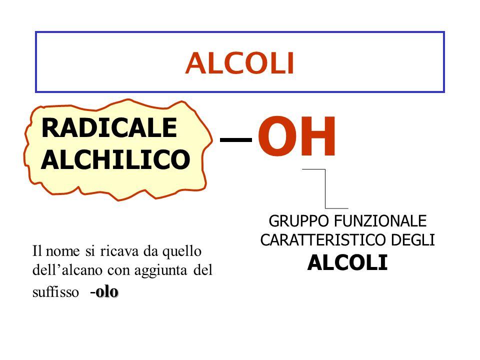 GRUPPO FUNZIONALE CARATTERISTICO DEGLI ALCOLI