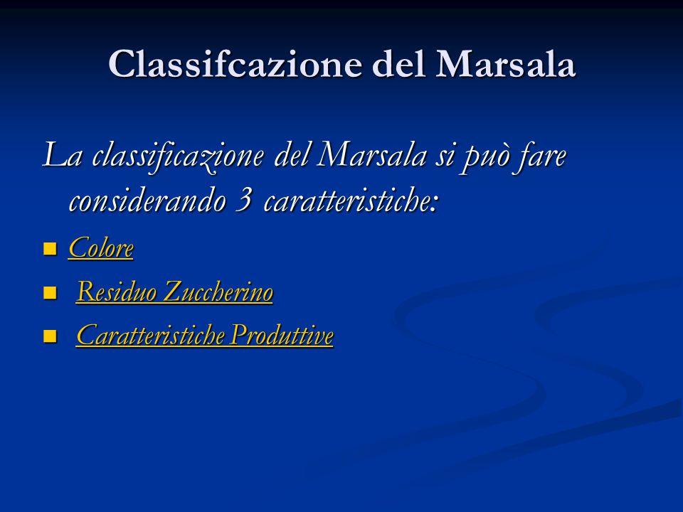 Classifcazione del Marsala