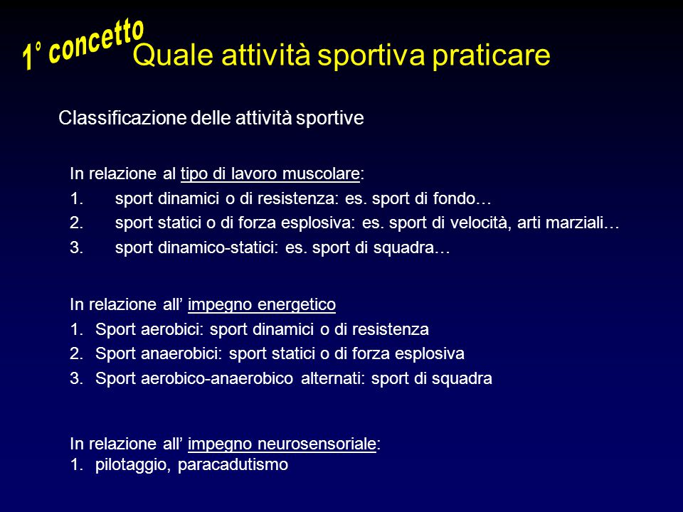 Quale attività sportiva praticare