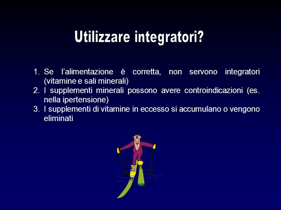 Utilizzare integratori