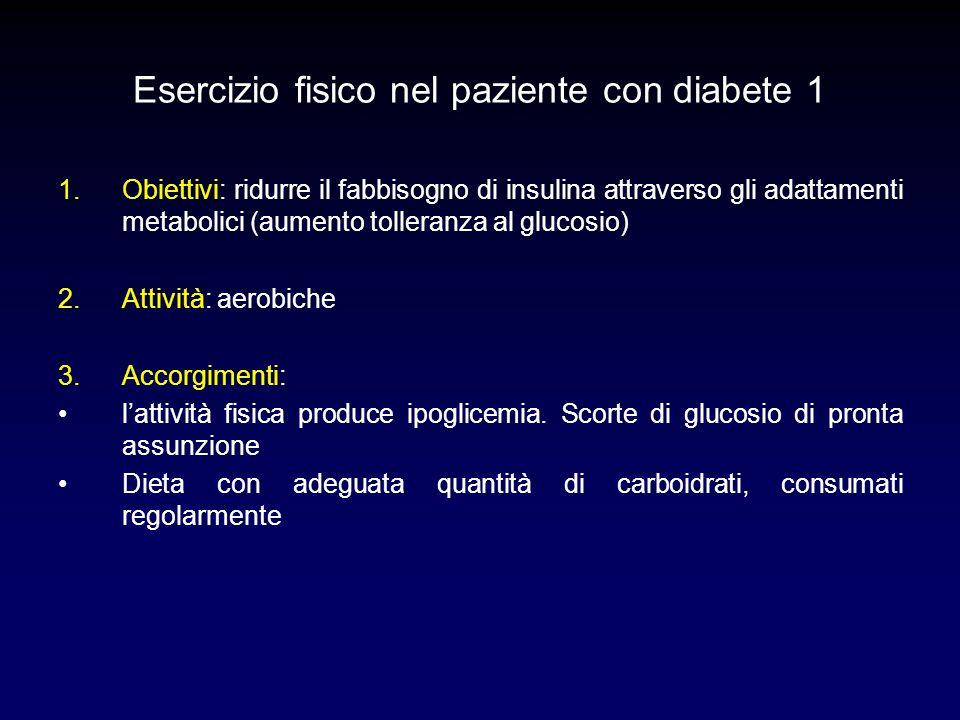 Esercizio fisico nel paziente con diabete 1