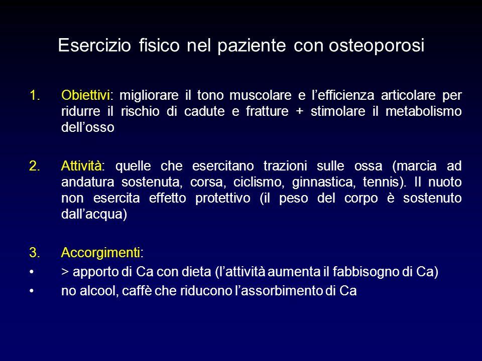 Esercizio fisico nel paziente con osteoporosi