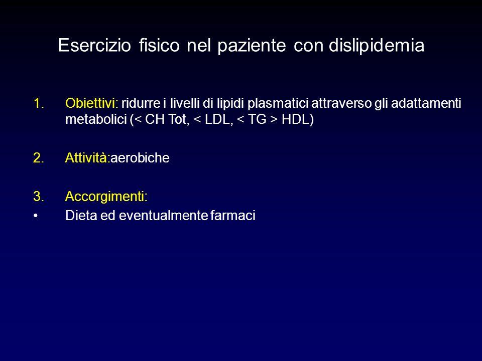 Esercizio fisico nel paziente con dislipidemia