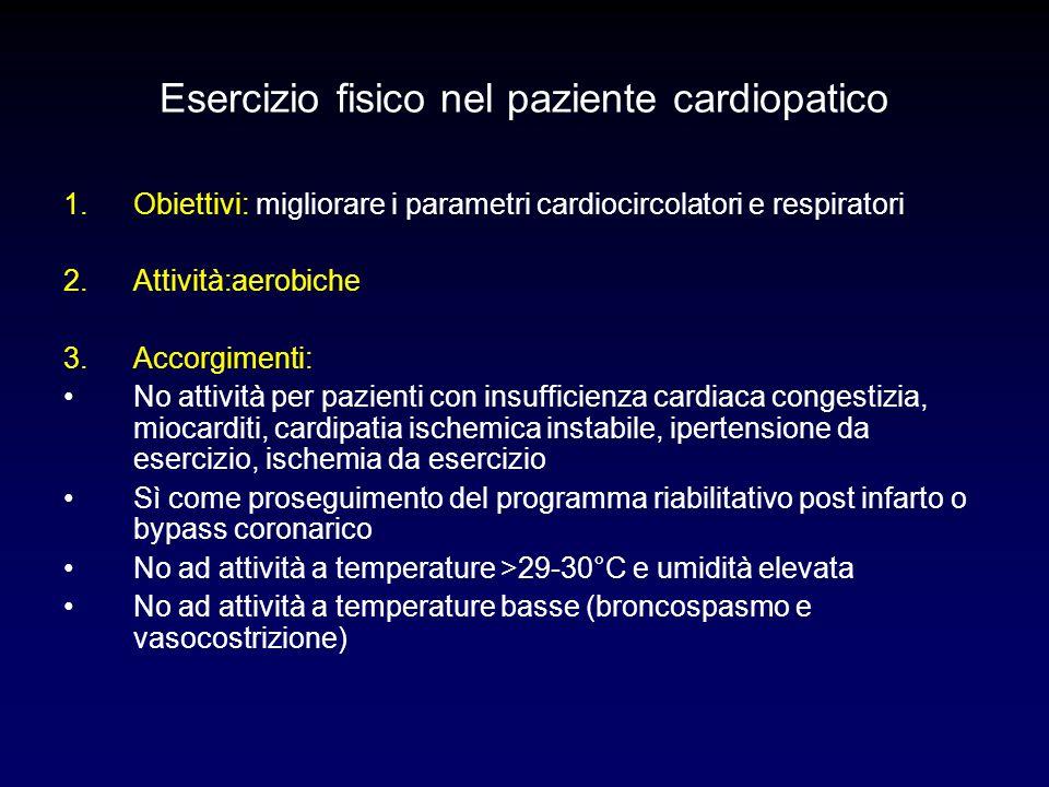 Esercizio fisico nel paziente cardiopatico
