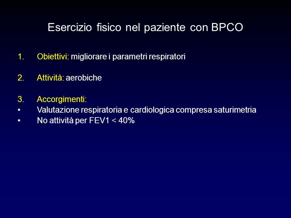 Esercizio fisico nel paziente con BPCO