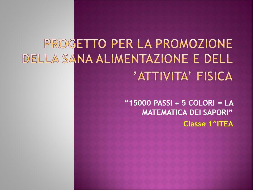 15000 PASSI + 5 COLORI = LA MATEMATICA DEI SAPORI Classe 1^ITEA