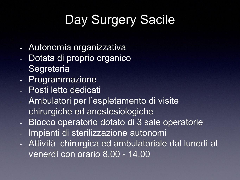 Day Surgery Sacile Autonomia organizzativa Dotata di proprio organico