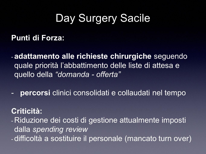Day Surgery Sacile Punti di Forza: